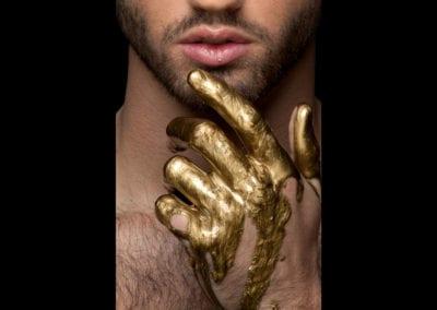 1920 gold hand